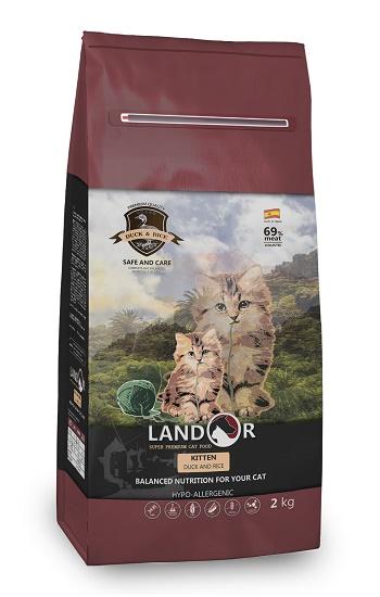 Landor Kitten сухой корм для котят с уткой и рисом