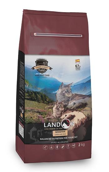 Landor Sensitive сухой корм для кошек с чувствительным пищеварением с ягненком и рисом
