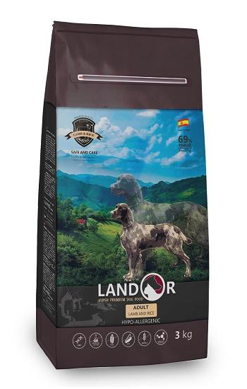 Landor Adult Lamb сухой корм для собак всех пород с ягненком и рисом