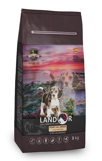 Landor Puppy сухой корм для щенков всех пород с уткой и рисом SALE
