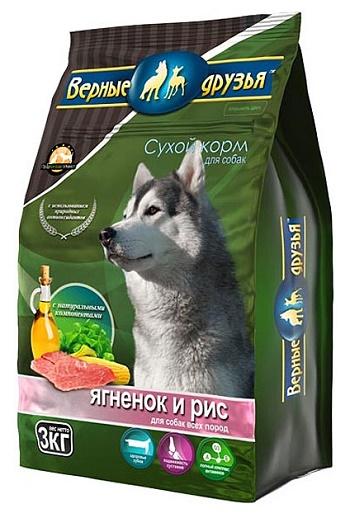 Верные Друзья сухой корм для взрослых собак с ягненком и рисом