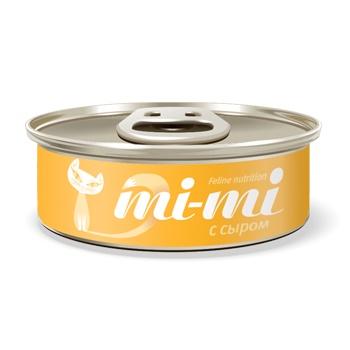 Mi-mi консервы для кошек и котят с сыром