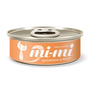 Mi-mi консервы для кошек и котят с цыпленком