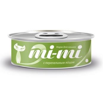 Mi-mi консервы для кошек и котят с перепелиным яйцом
