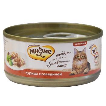 Мнямс консервы для кошек с курицей и говядиной