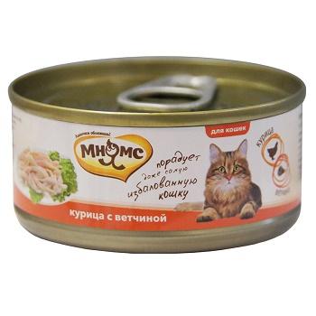 Мнямс консервы для кошек с курицей и ветчиной