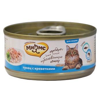 Мнямс консервы для кошек с тунцом и креветками