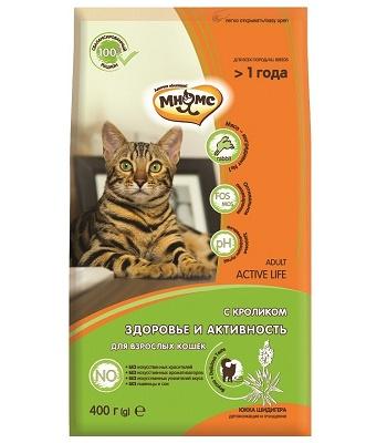 Мнямс Active Life сухой корм для кошек с кроликом