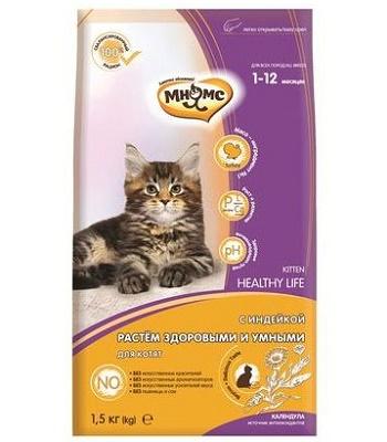Мнямс Healthy Life сухой корм для котят с индейкой