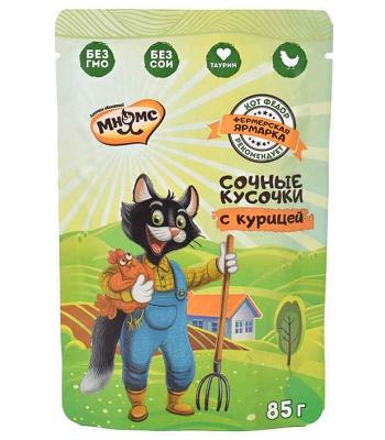 Мнямс Фермерская ярмарка пауч для кошек с курицей