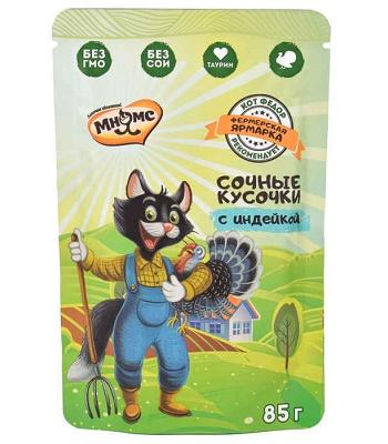 Мнямс Фермерская ярмарка пауч для кошек с индейкой