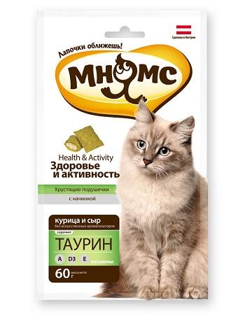 Мнямс лакомства для кошек Здоровье и активность