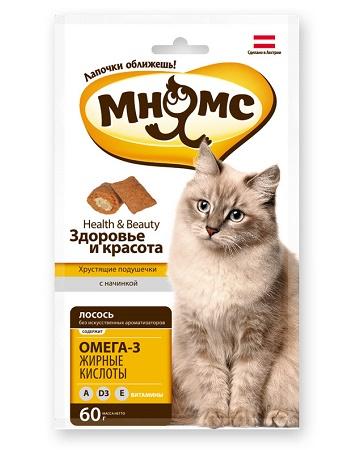 Мнямс лакомства для кошек Здоровье и красота