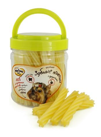 Мнямс лакомства для собак Крученые зубные палочки с фруктами