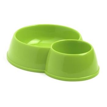 Moderna миска Double Eco Bowls двойная зеленая 0,17+0,45 л (C153-173)