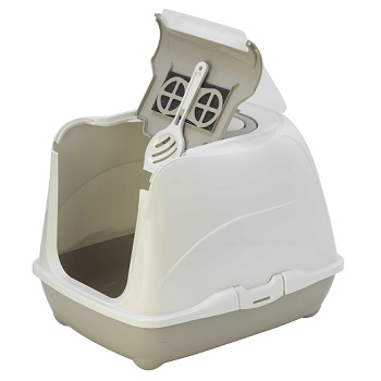 Moderna туалет закрытый Flip Cat серый 57,6x43,9x41 (C240-330)