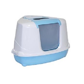 Moderna туалет закрытый Flip Corner угловой голубой 55,7x45,1x38,2 (C250-181)