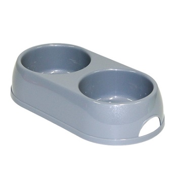 Moderna миска Double Eco Bowls двойная серая 2x0,57 л (H122-026)