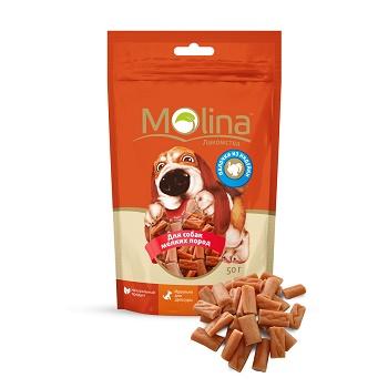 Molina лакомство для собак мелких пород Палочки из индейки