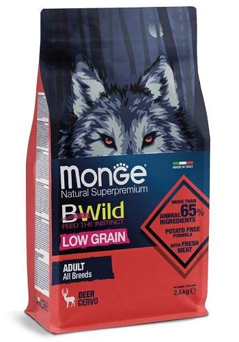 Monge BWild Low Grain Adult корм для собак всех пород с оленем