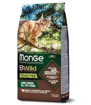 Monge BWild Grain Free Large Breeds сухой корм для кошек крупных пород с буйволом