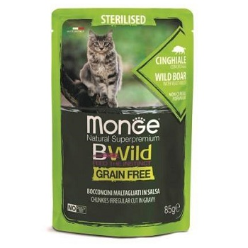 Monge BWild Sterilised пауч для кошек с кабаном и овощами