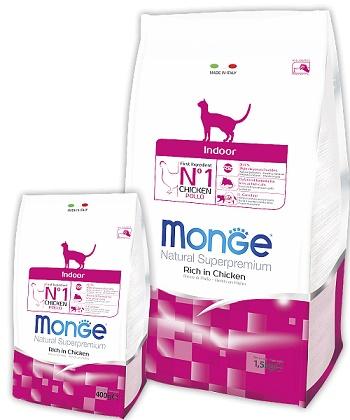 Monge Indoor сухой корм для домашних кошек