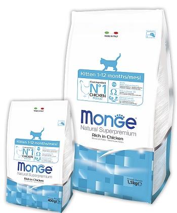 Monge Kitten сухой корм для котят до 1 года