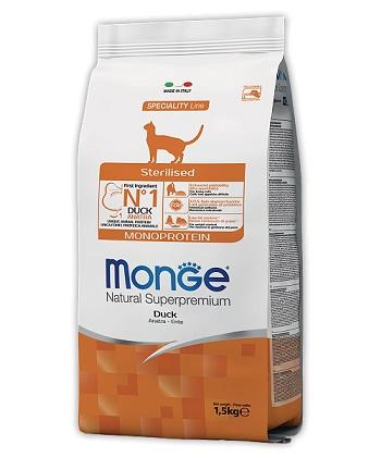 Monge Cat Monorotein сухой корм для стерилизованных кошек с уткой