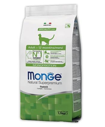 Monge Cat Monorotein сухой корм для взрослых кошек с кроликом