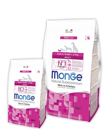 Monge Daily Adult Extra Small корм для взрослых собак миниатюрных пород