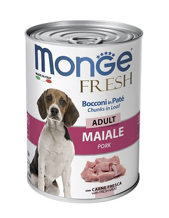 Monge Dog Fresh Adult консервы для собак со свининой