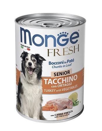 Monge Dog Fresh Senior консервы для собак с индейкой и овощами