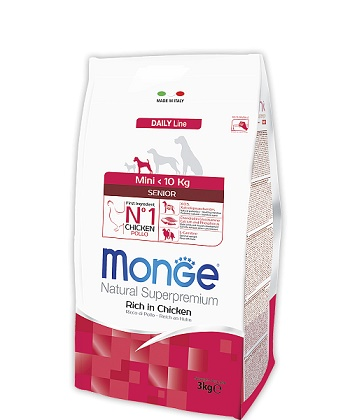 Monge Daily Senior Mini корм для пожилых собак мелких пород