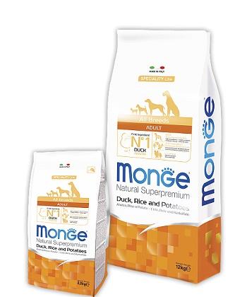 Monge Speciality Adult корм для взрослых собак всех пород с уткой
