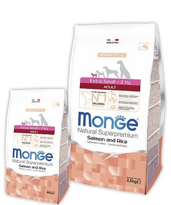 Monge Speciality Adult Extra Small корм для взрослых собак миниатюрных пород с лососем