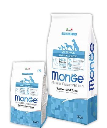 Monge Speciality Hypoallergenic корм для взрослых собак всех пород