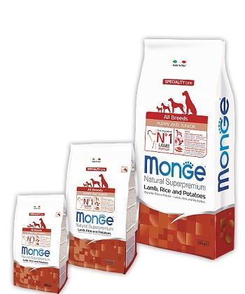 Monge Speciality Puppy&Junior корм для щенков всех пород с ягненком