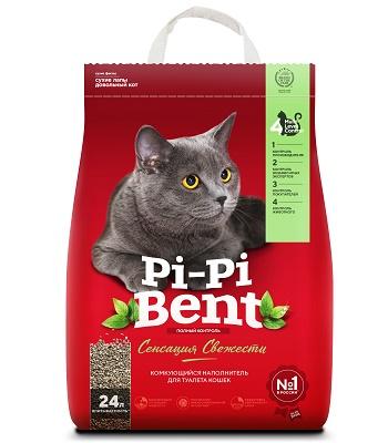 Pi-Pi-Bent Сенсация свежести наполнитель комкующийся
