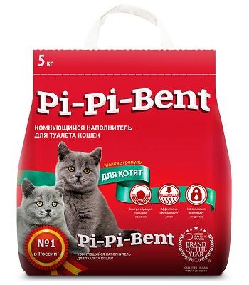 Pi-Pi-Bent для Котят наполнитель комкующийся