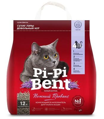 Pi-Pi-Bent Нежный Прованс наполнитель комкующийся