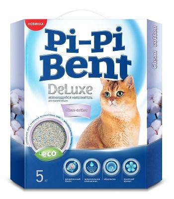 Pi-Pi-Bent DeLuxe Clean Cotton наполнитель комкующийся
