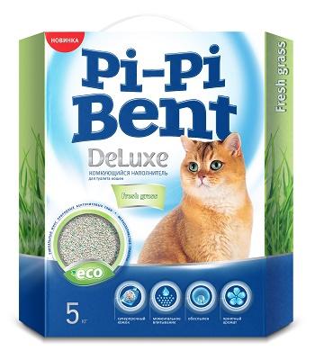 Pi-Pi-Bent DeLuxe Fresh Grass наполнитель комкующийся