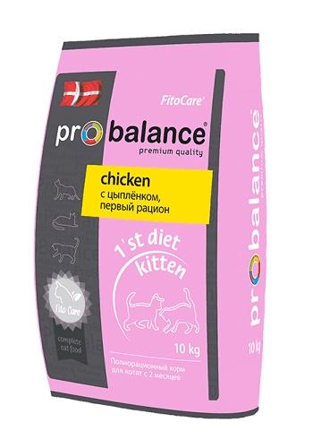 ProBalance 1st Diet Kitten сухой корм для котят с курицей
