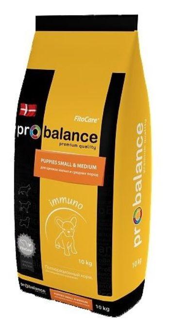 ProBalance Immuno Puppies Small&Medium сухой корм для щенков малых и средних пород