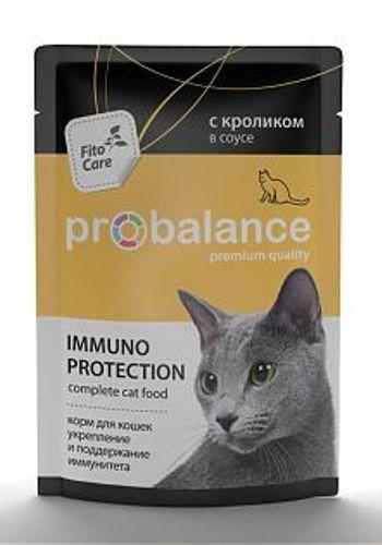 ProBalance Adult Immuno Protection влажный корм для кошек с кроликом в соусе