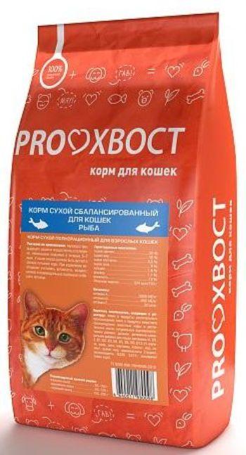 Proхвост корм сухой для кошек с рыбой