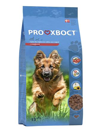 Proхвост корм сухой для взрослых собак с говядиной