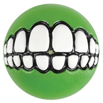 """Rogz Grinz мяч """"Зубы"""" с отверстием для лакомства GR02L лайм"""