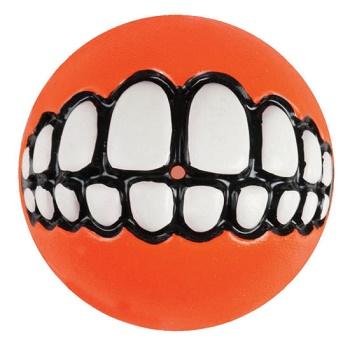 """Rogz Grinz мяч """"Зубы"""" с отверстием для лакомства GR02D оранжевый"""